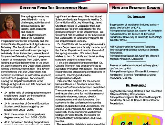 Spring 2007 Newsletter