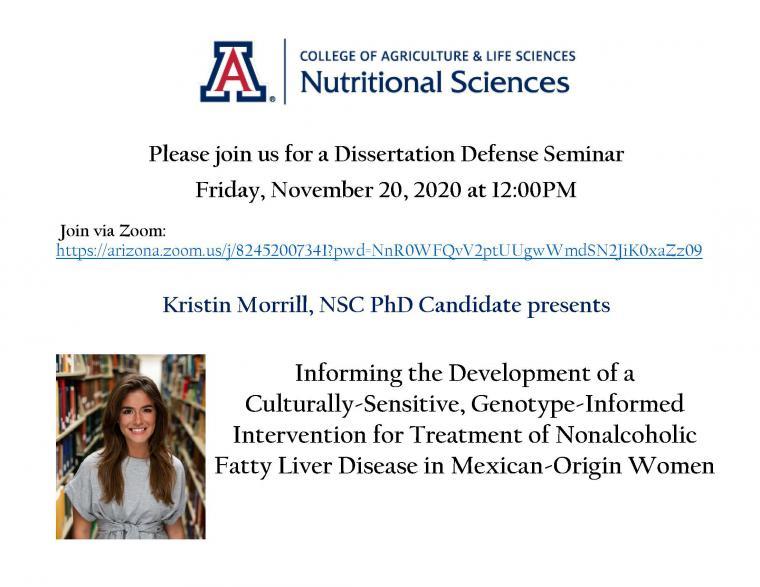 Morrill Dissertation Defense Flyer